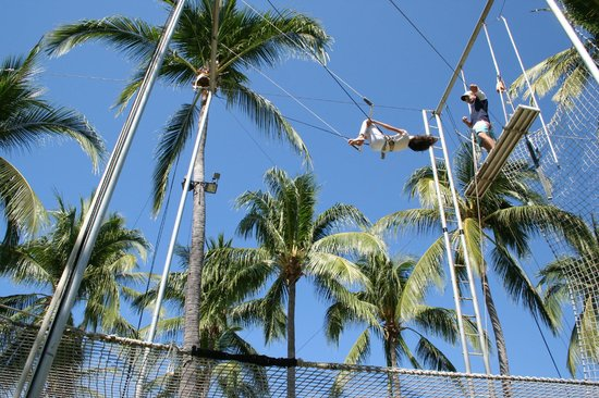 Club Med Ixtapa Pacific:                   Trapeze, one of the most popular activities for the kids