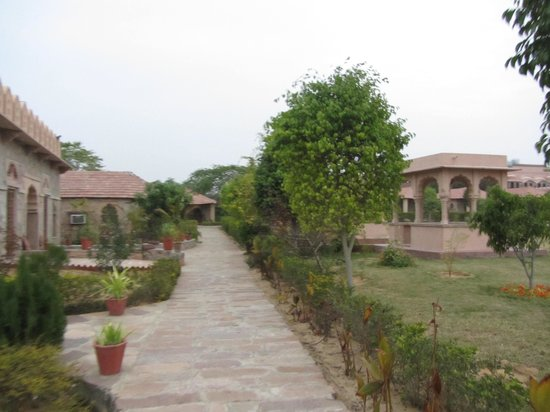 The Pushkar Bagh:                   Outside in the lawns