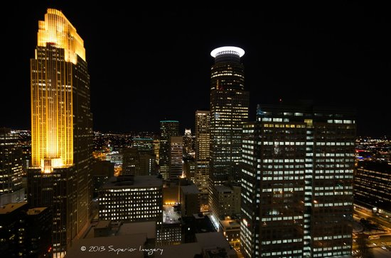 W Minneapolis - The Foshay:                   Downtown Minneapolis from the 30th floor Observation Deck