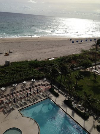 Hilton Singer Island Oceanfront/Palm Beaches Resort:                   View of the pool from the room balcony