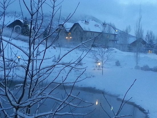 Zermatt Resort & Spa :                   View from our room after a snowfall
