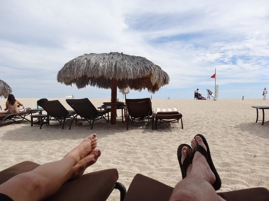 Hilton Los Cabos Beach & Golf Resort:                   Relaxing on the beach