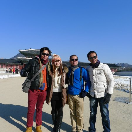 In Front Of Gyeongbok Palace With Our Pretty Tour Guide Julie  Picture Of K