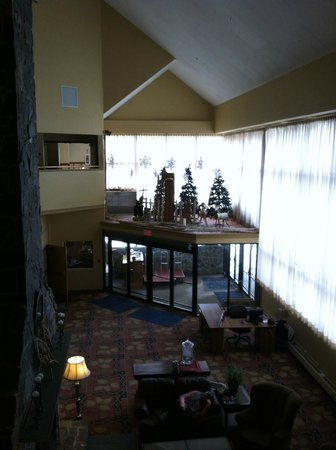 Grand Summit Resort at Sunday River:                   Lobby overhead view.