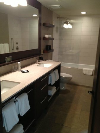 Hotel Terra Jackson Hole:                   Two Sink Bathroom / Self Cleaning Tub