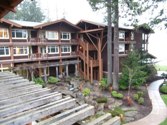Alderbrook Resort & Spa:                   Beautiful waterful which you can hear from your room