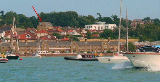 Annie's B&B from Cowes Harbour