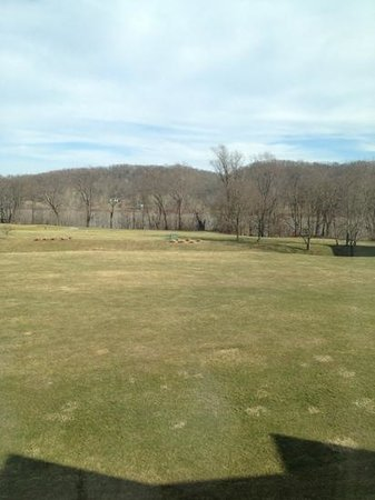 Grand Victoria Casino and Resort by Hyatt:                   View of the golf course & Ohio River