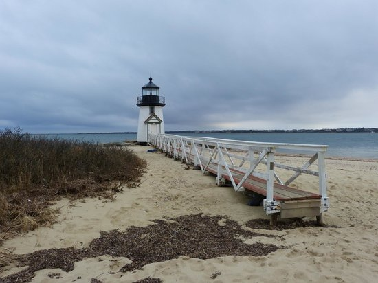 The Carlisle House Inn:                   10 Minute walk to Brant Point lighthouse and beach (winter picture)