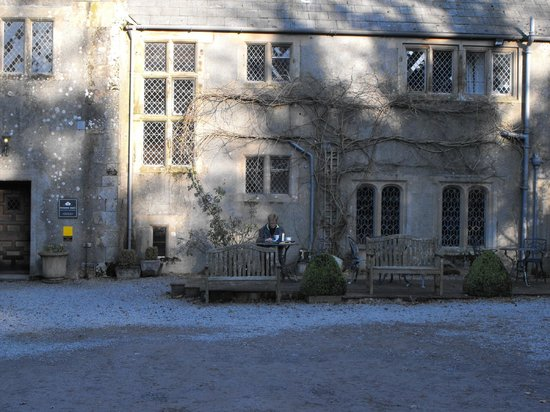 Winder Hall Country House :                   Front courtyard of hotel