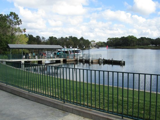 Disney's BoardWalk Villas:                   This is the boat dock at Universal that takes you to/from the hotel
