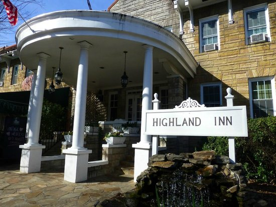 The Highland Inn:                   Front exterior