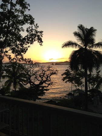 Gallows Point Resort:                                                       Sun set over St. Thomas from room 9C balco