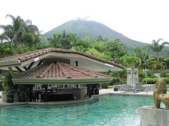 Hotel Royal Corin:                   View of grounds and largest hot spring