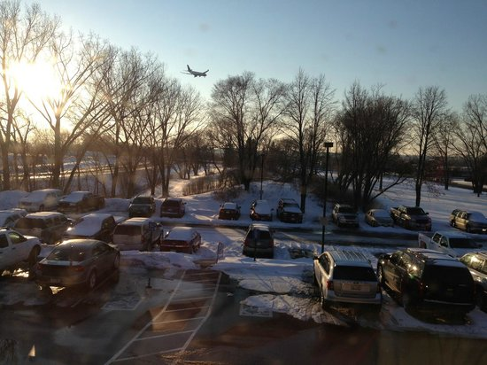 Courtyard by Marriott Minneapolis-St. Paul Airport:                   View from hotel room window 2nd floor
