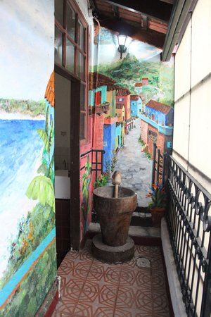 Hemingway Inn:                   On the way to my room, nice painings on the walls