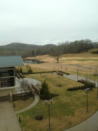 Wilderness at the Smokies Resort:                                     view from our room at Stone Hill Lodge