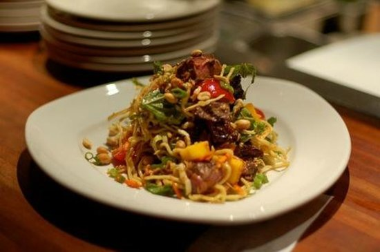 Thai Steak & Noodle Salad - Picture of South Beverly Grill, Beverly ...