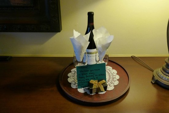 BEST WESTERN PLUS Victorian Inn:                   Our nice birthday greeting waiting for us in the room.