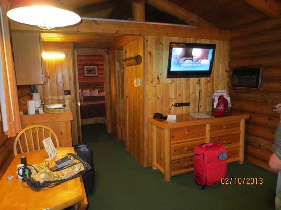Cowboy Village Resort:                   Our own private cabin