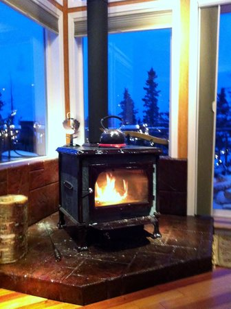 Alaska Sundance Retreat Bed and Breakfast, LLC:                   getting cozy by the fire