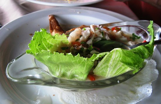 Arenal Lodge:                   ceviches - Costa Rican style