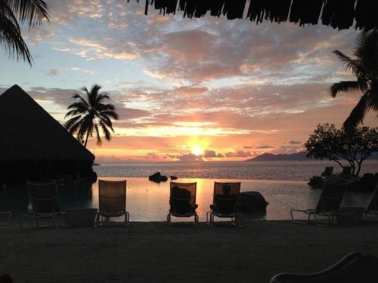 InterContinental Resort Tahiti:                   another beautiful sunset