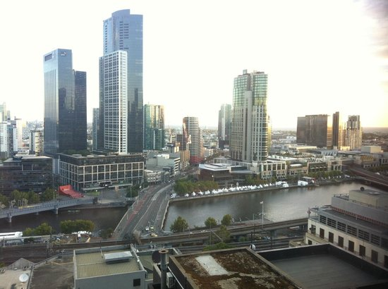 Oaks on Market:                                     View from the room, towards Southbank/Crown Casino