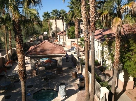 Residence Inn Phoenix Mesa:                   view of pool from our room