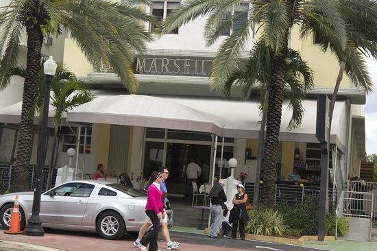 Marseilles Hotel:                   Front view of the Marseiles hotel