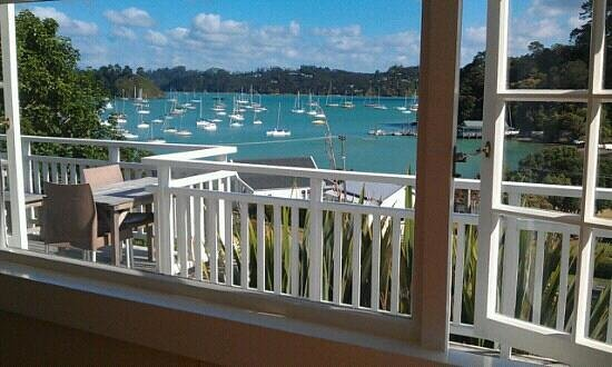 Arcadia Lodge:                   view of bay of islands from room &amp; verandah