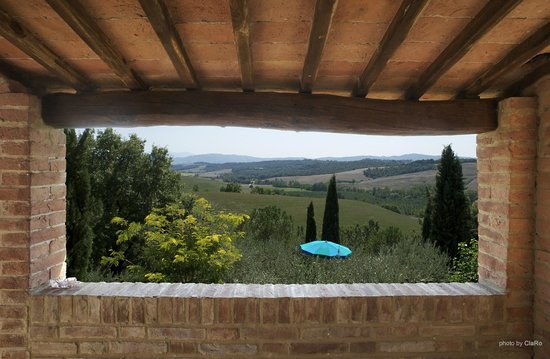 Buonconvento, Wochy: Panoramica dalla sala colazioni