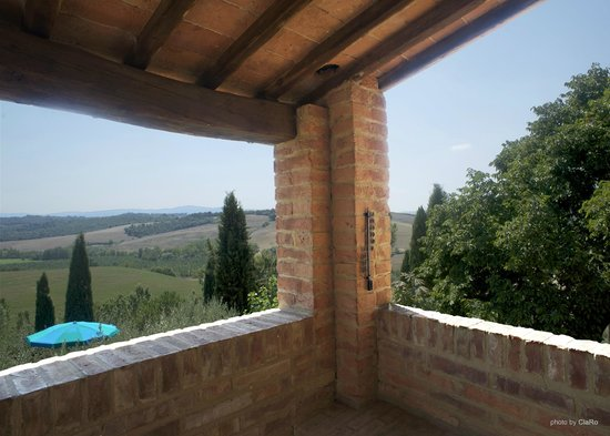 Buonconvento, Wochy: vista panoramica dal casolare