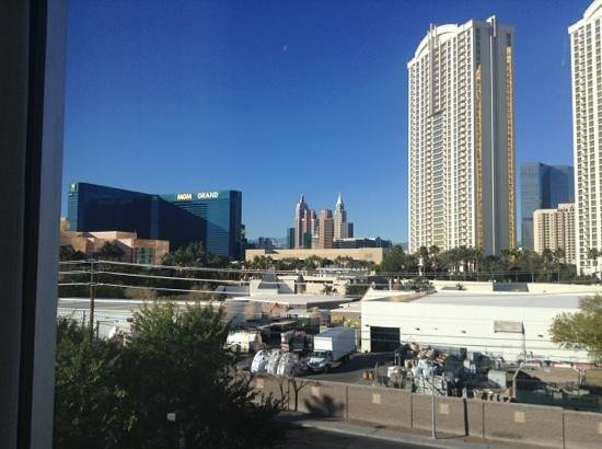 Wyndham Grand Desert:                   view of strip from our room in tower 3