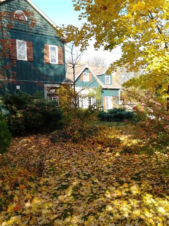 Applewood Hollow Bed and Breakfast:                   View of the side and front of the house