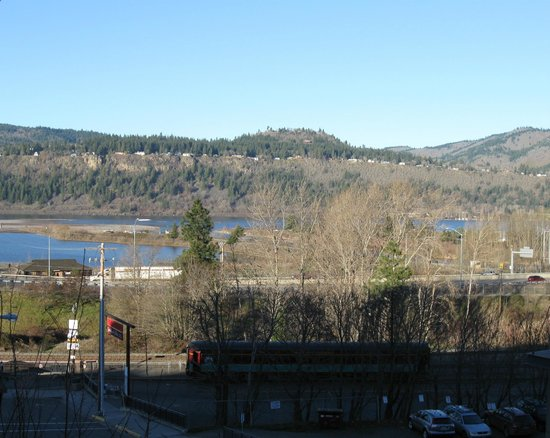 Hood River Hotel:                   Looking towards Columbia River