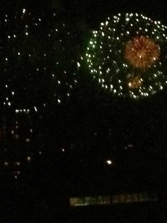 Sheraton Vancouver Wall Centre:                   View of the fireworks from our room