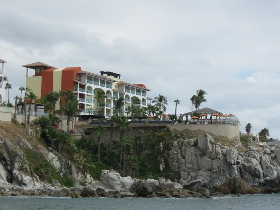 Welk Resorts Sirena Del Mar:                   View from beach up to Sirena del Mar