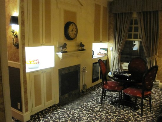 The Inn at Union Square:                   Tea room on each floor (breakfast served on every other floor)