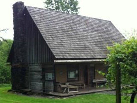 Oregon City, OR:                   Horace Baker Log Cabin circa 1856