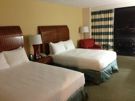 Hilton Miami Downtown:                   Two queen beds