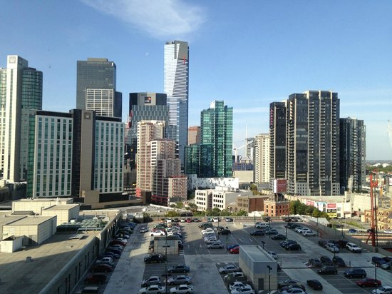 Crown Metropol Melbourne:                   view from 14th floor