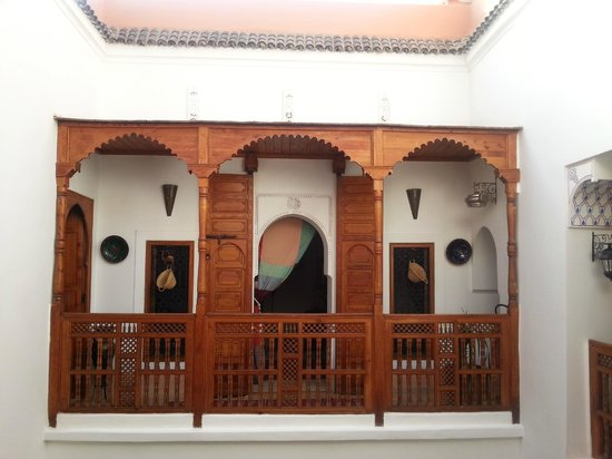 Riad Slawi:                   view to the guest room