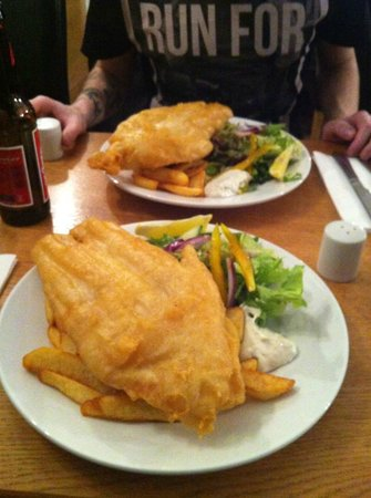 Victoria Park Hotel:                   Fish and Chips