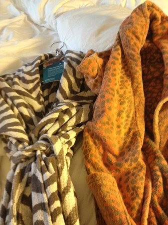 Monaco Baltimore, a Kimpton Hotel:                   animal print robes!! so fun!