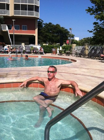 DiamondHead Beach Resort Hotel:                   Great heated pool and two hot tubs. Clean and inviting.
