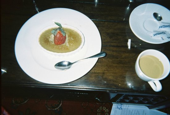 Wedmore Place:                                     The BEST brulee I've ever had; espresso creme.