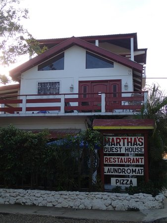 Martha's Guesthouse:                   from the street