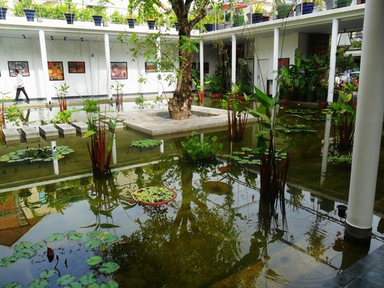 The Plantation:                   Water Garden With Artwork