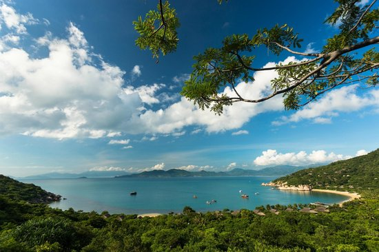 Six Senses Ninh Van Bay: the resort's bay view from the hiking trail